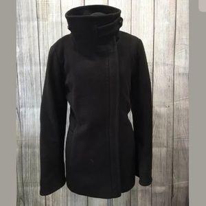 Cole Haan Coat short size 6 brown wool blend